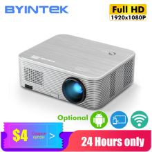 BYINTEK K15 Full HD 4K Cinema 1080P LED Video Smart Android Projector Proyector Beamer for 3D 300inch Home Theater