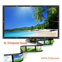 3D HD Wall Mounted Projection Screen Canvas LED Projector high Brightness 120 inch-60inch for Home Theater
