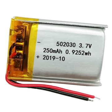 Hot Sell 502030 3.7V 250mAh Li Polymer Battery