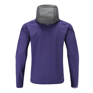Mens Soccer Wear Zip Up Hoodies Purple