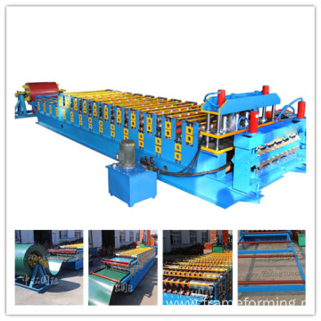 Trapezoidal Colored Metal and Corrugated Roof Sheet Making Machine