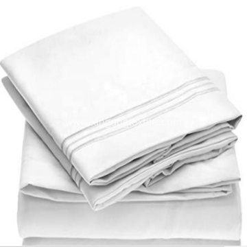 100% polyester microfiber embroidery sheet set