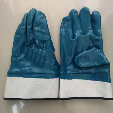 Bule Nitirle Safety cuff Gloves