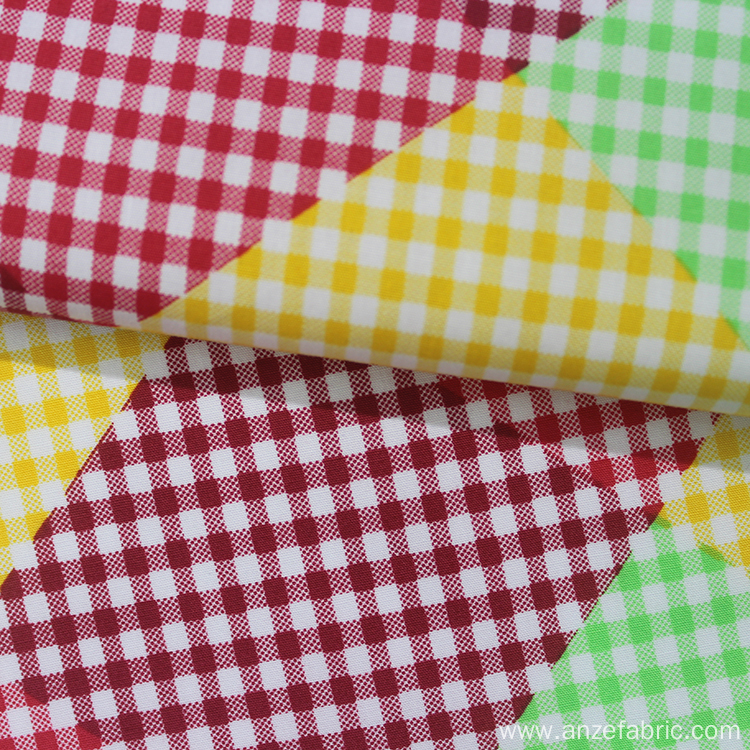 Customized 100% Cotton Poplin Check Fabric for shirt