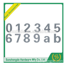 BTS SBC-010SS SS304 Best Quality Good Material door number plates without holdes in front with screws in back side