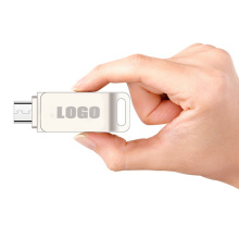 Personalizado Mini Swivel Metal Otg USB Flash Drive