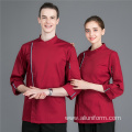 chef uniforms for restaurant custom short or long sleeve waiter waitress uniform