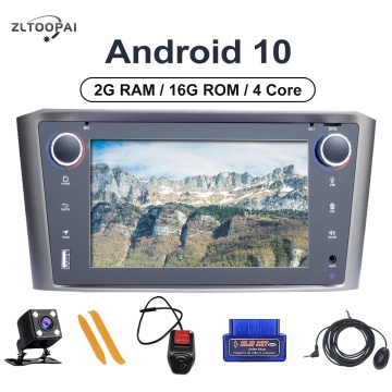 ZLTOOPAI Android 10.0 Auto Radio For Toyota Avensis T25 2002-2008 Car Multimedia Player GPS Navigation 4Core 2GB+16GB Car Stereo