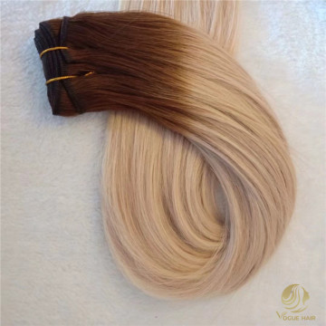 Top quality machine weft hair extensions