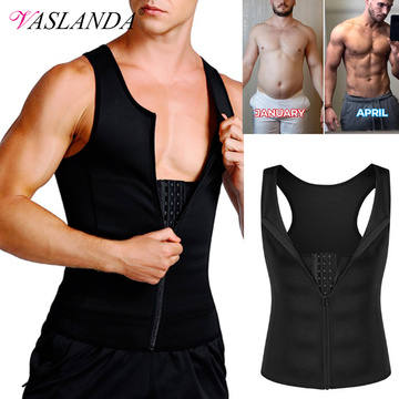 Compression Shirt for Men Weight Loss Workout Undershirts Slimming Vest Body Shaper Waist Trainer Tank Tops Shapewear Sauna Suit