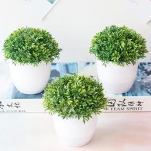 Artificial Potted Plant Bonsai Plastic Flowerpot Ornaments Simulation Flower Grass Birthday Party Decor Home Office Desk Decor