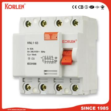 Residual Current Circuit Breaker KNL1-63 63A TUV 2P