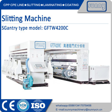 Turret slitting rewinding machine