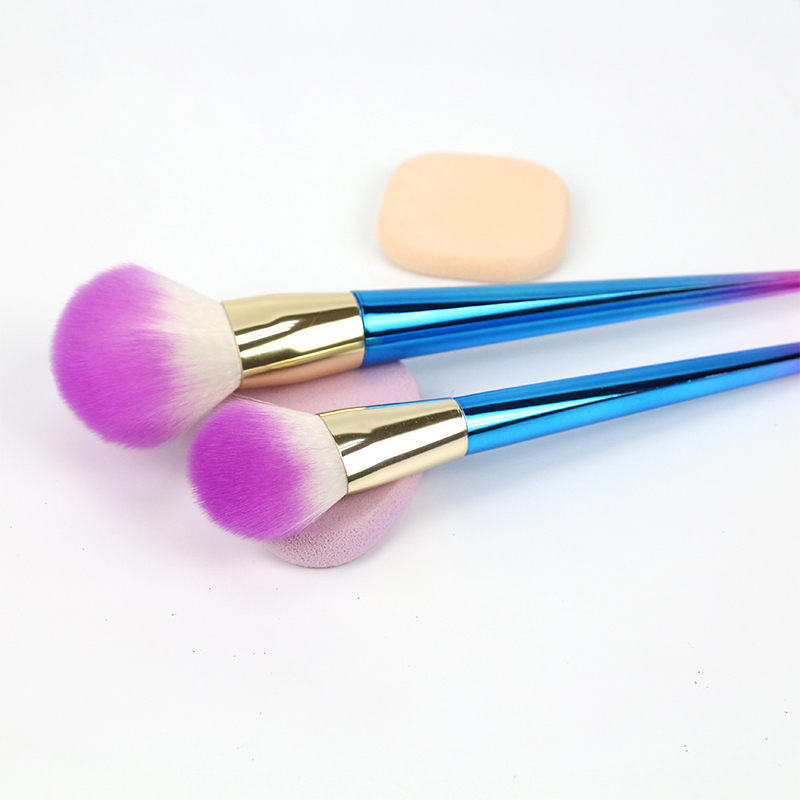 Rainbow Makeup Brushes