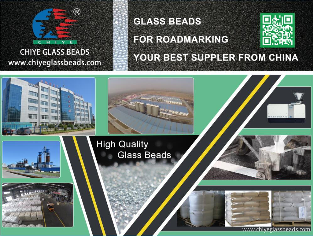 Chiye high quality reflective glass beads for roadmarking