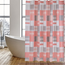 Shower Curtain PEVA Pink Square