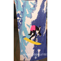 100% cotton velvet ptinting beach towel