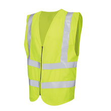 Safety vest with zip