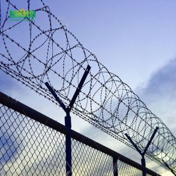 Hot sale post pvc coated fence with razor barbed wire