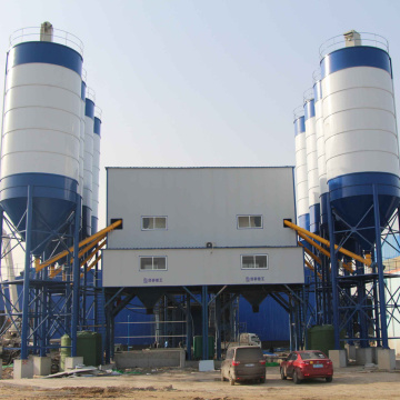 Myanmar 180m3 belt conveyor concrete batching plant