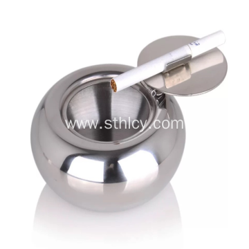 Stainless Steel Ashtray With Lid Indoor Or Outdoor