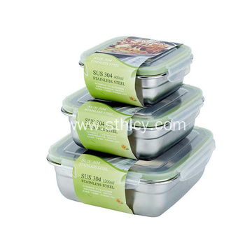 Square 304 Stainless Steel Leakproof Sealed Lunch Box