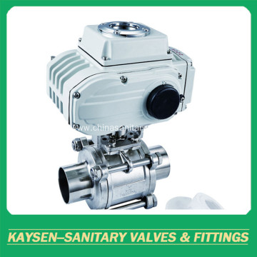 Sanitary 3PC Electric ball valve
