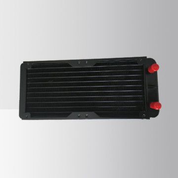 CPU water cooler tube fin radiator