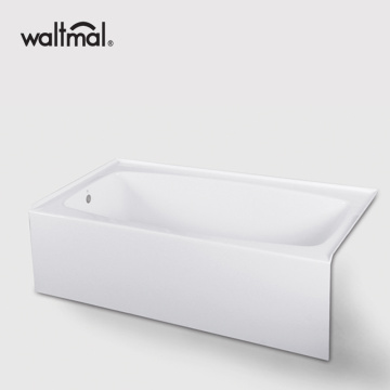 Fiberglass Soaking Oval Alcove Whirlpool Bathtub