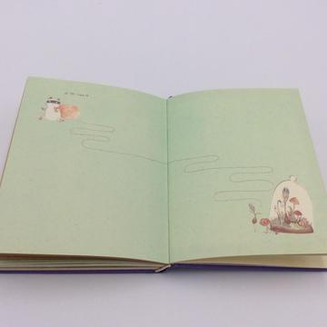 Paper cute notebook with cute graph
