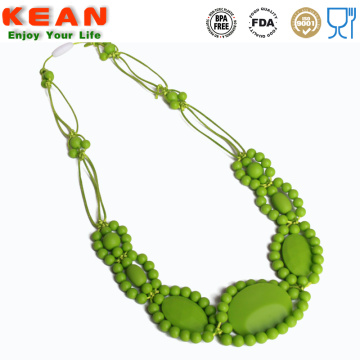 Safe chewing baby teething necklace silicone