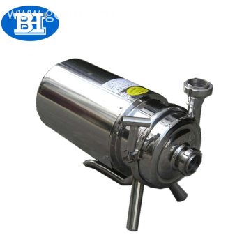 Hygienic food grade stainless steel movable centrifugal pump for milk beer water