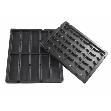 cheap black vacuum forming blister packaging electronic tray