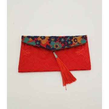 custom pattern silk envelope bag