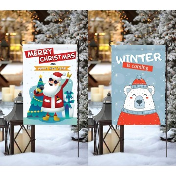 High quality custom design winter garden flag