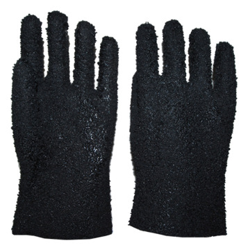 Black all granular cotton lining gloves 27cm