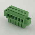 3.81mm pitch straight pluggable terminal block with screws