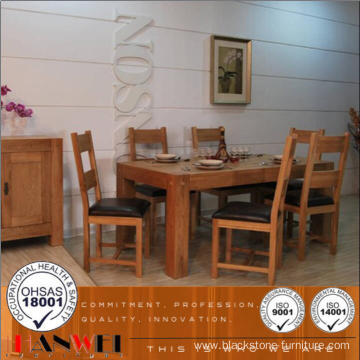 Chinese Oak Dining Table Set