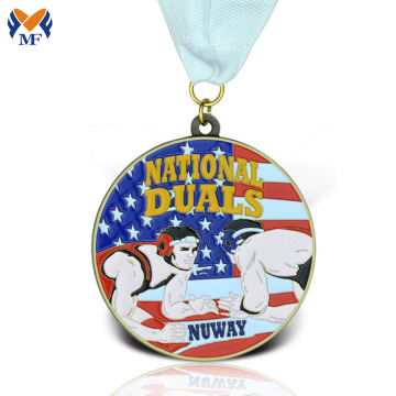 Metal medallions custom enamel types of medals maker