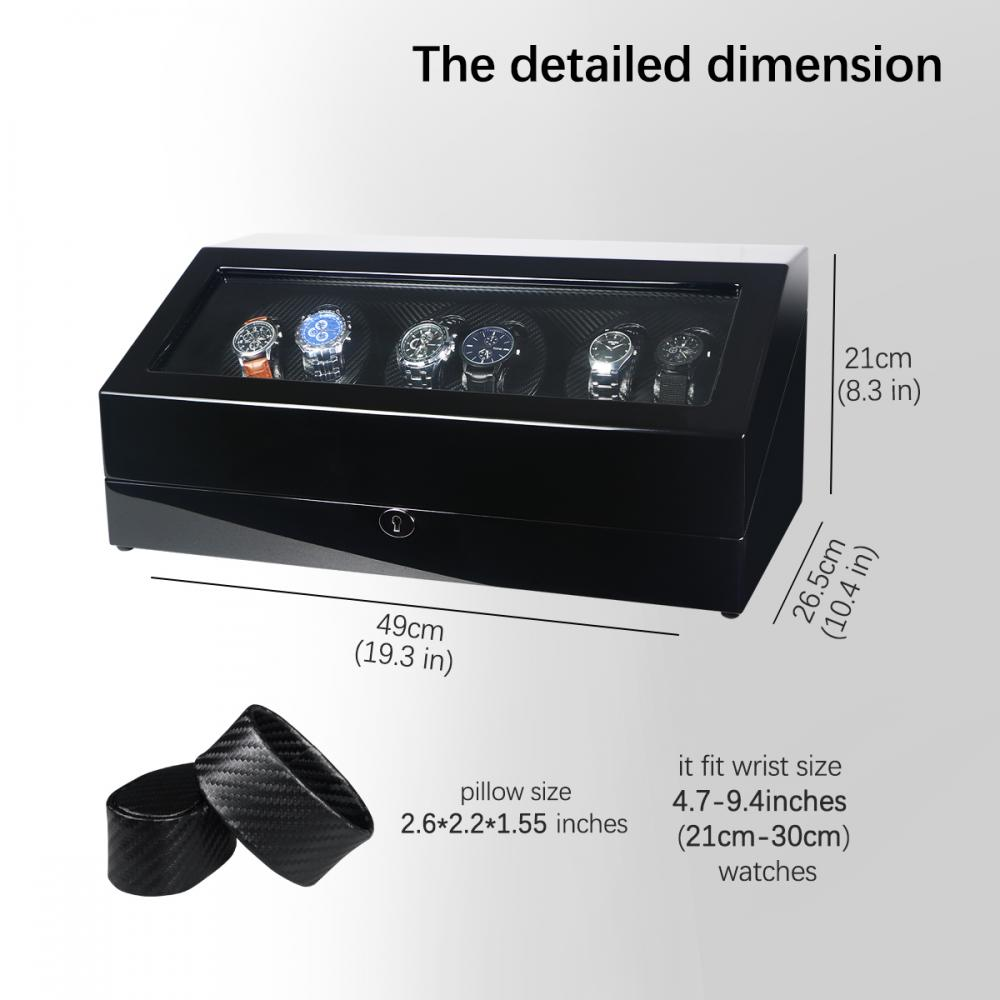 Triple Watch Winder Black High Gloss Finish