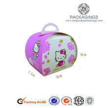 New design small foldable paper cupcake box
