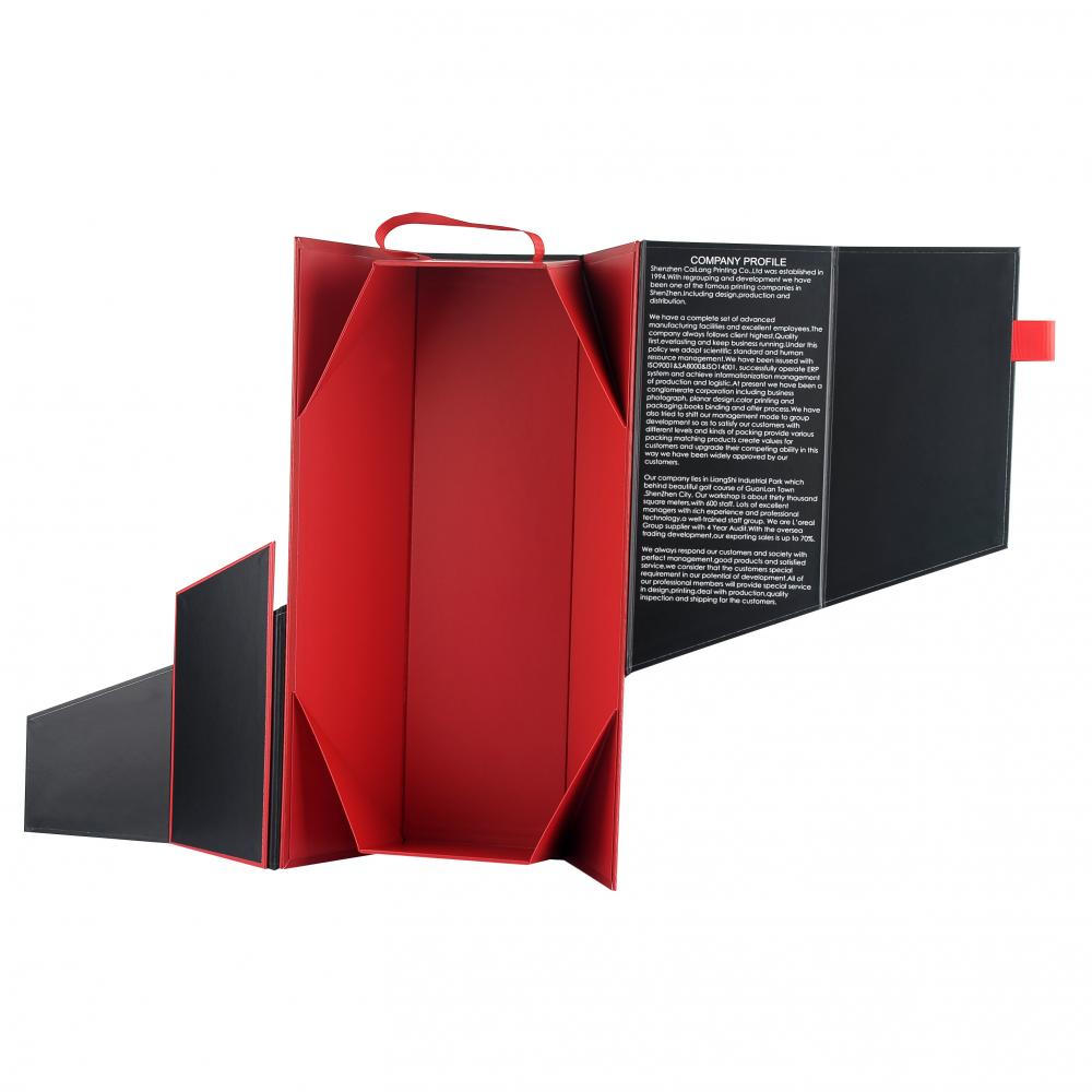 Folding Wine Paper Box With Magnets