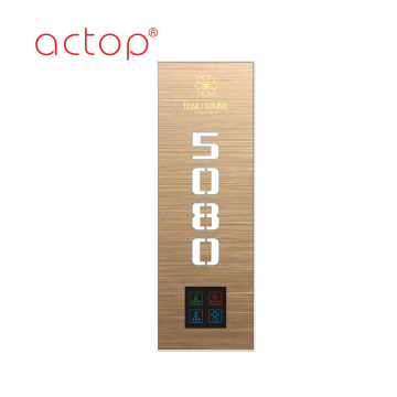 Metal smart hotel door number  door plate