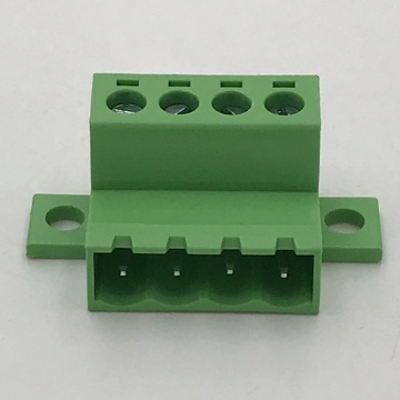 5.08mm pitch panel locking male pluggable terminal block