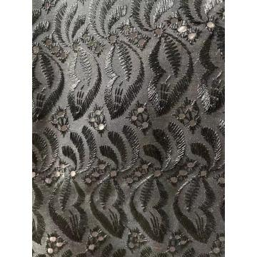Tc embroidery satin polyester dyed machined fabric