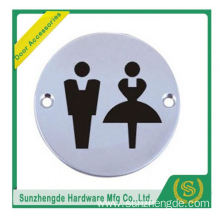 BTB SSP-003SS Mental Wheel Chair Toilet Door Sign Plate