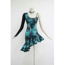 Green latin dancesport costume