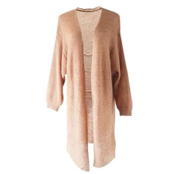 Women High Quality Knitted Long Coat
