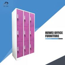 Nine Door Steel Lockable Storage Locker