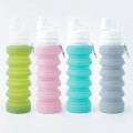 Reusable LFGB Collapsible Healthy Silicone Water Bottle